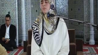 القارئة العالميية هاجر بو ساق ماتيسر من سورة الفرقان مسجد محمد السادس وجدة