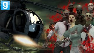 HELICOPTER VS ZOMBIE APOCALYPSE | Gmod Custom Adventure (Zombies Mod, Helicopter Mod, Apocalypse)