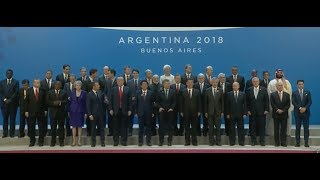 محمد بن سلمان في صورة جماعية مع قادة أكبر الدول الإقتصادية بالعالم