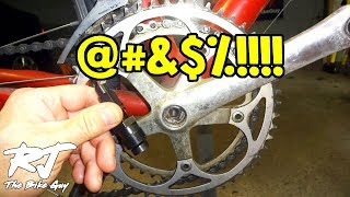 How to NOT Strip Crank Arm Threads When Removing Cranks