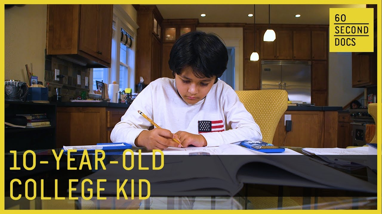 10-year-old Kairan Quazi is a college student