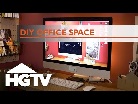 Turn a Closet Into a Stylish Home Office - HGTV