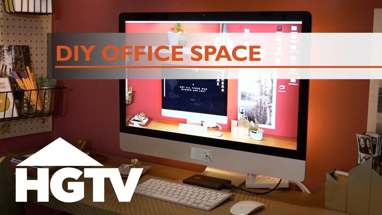 diy office space. Turn A Closet Into Stylish Home Office - HGTV Diy Space S