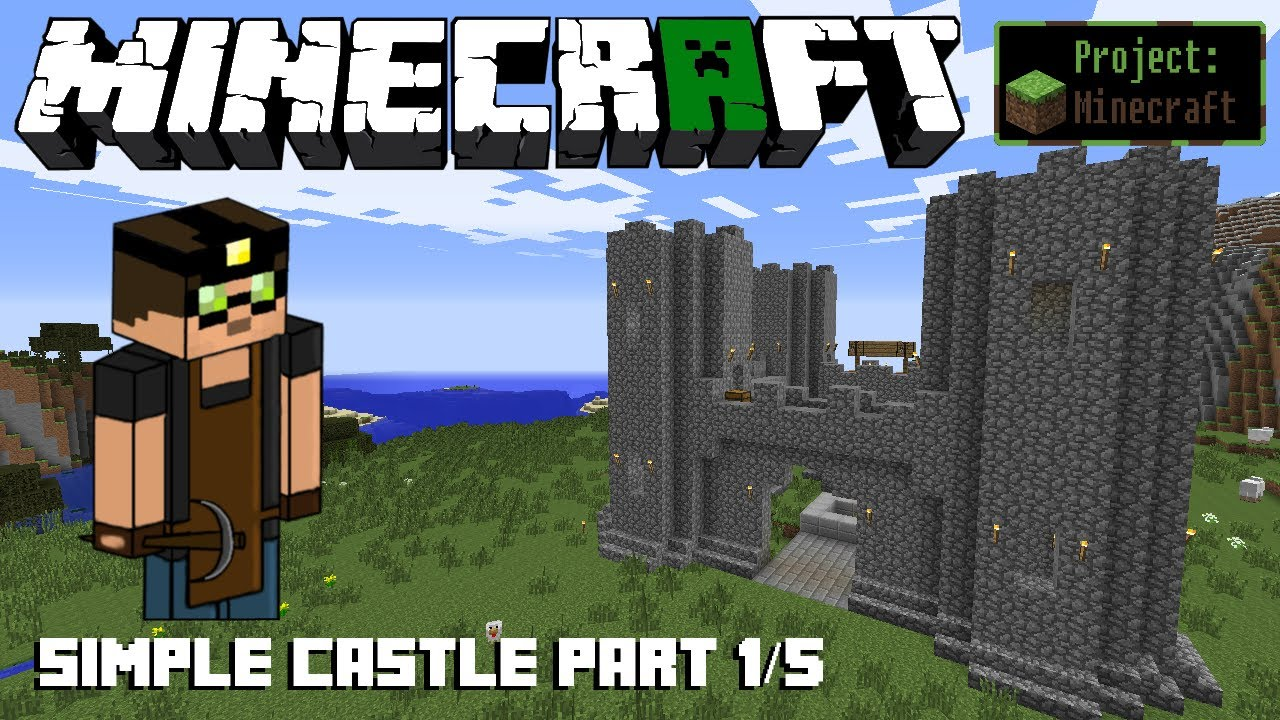 Awesome How To Build A Simple Castle (Part 1/5)   Put Cobblestone To Good Use!    (Project Minecraft #1) (HD)   YouTube