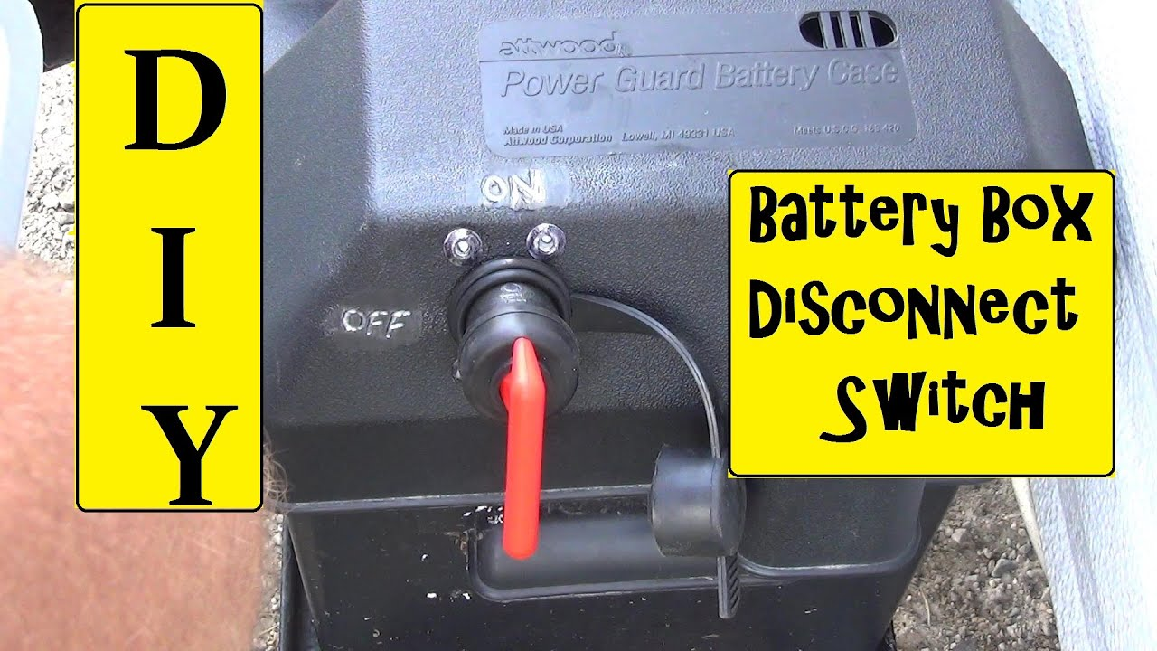 RV Battery Box Disconnect Switch Installation  YouTube