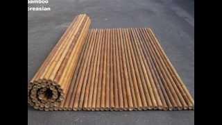 Bamboocarbonizedfencing Carbonization Bambootreatmentprocess-bamboo Carbonizedfence Panel Rolls