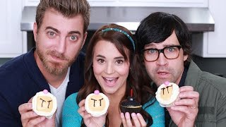 BOMBERMAN CUPCAKES - ft. Rhett and Link! - NERDY NUMMIES Thumbnail