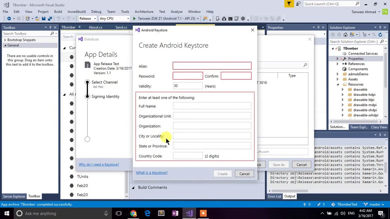 Xamarin - Visual Studio - How To Generate APK File To Distribute on  Playstore & via other sources