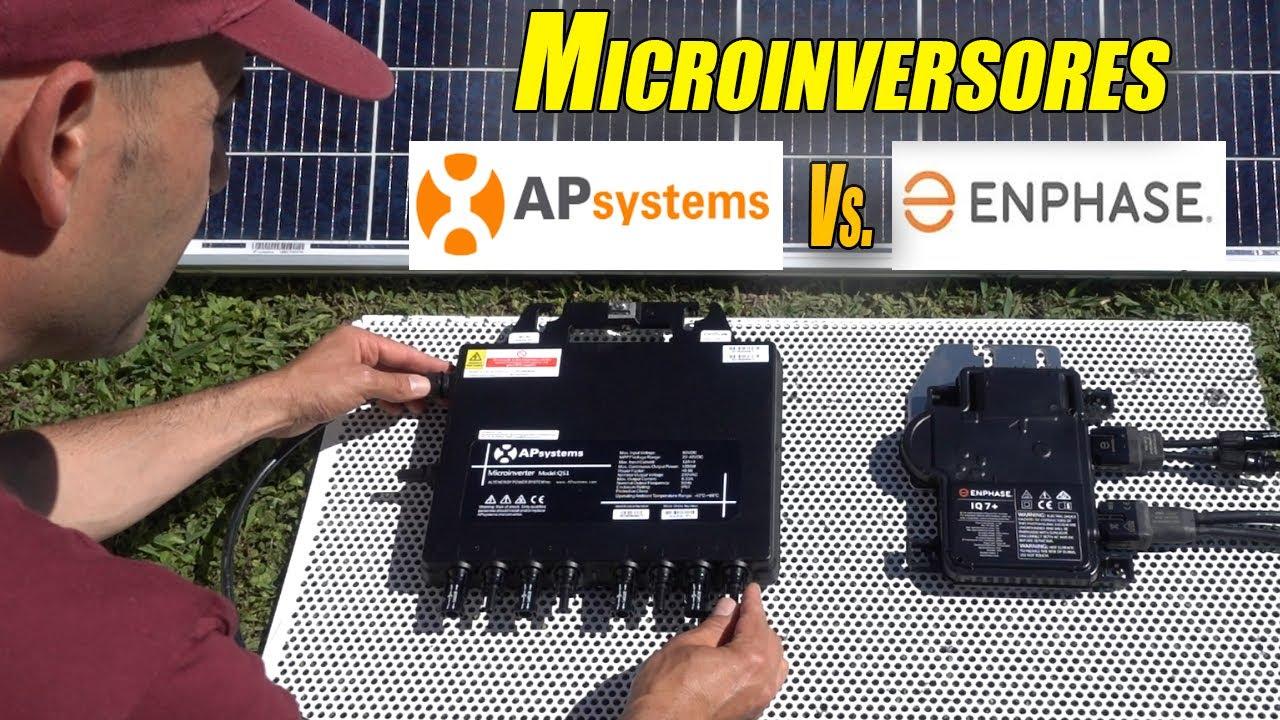 Enphase IQ7+ vs. APsystems QS1 (Comparativa microinversores solares)