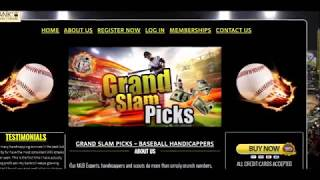 Best Baseball Betting Systems!!!   Grand Slam Picks!!! Brief Review!!!