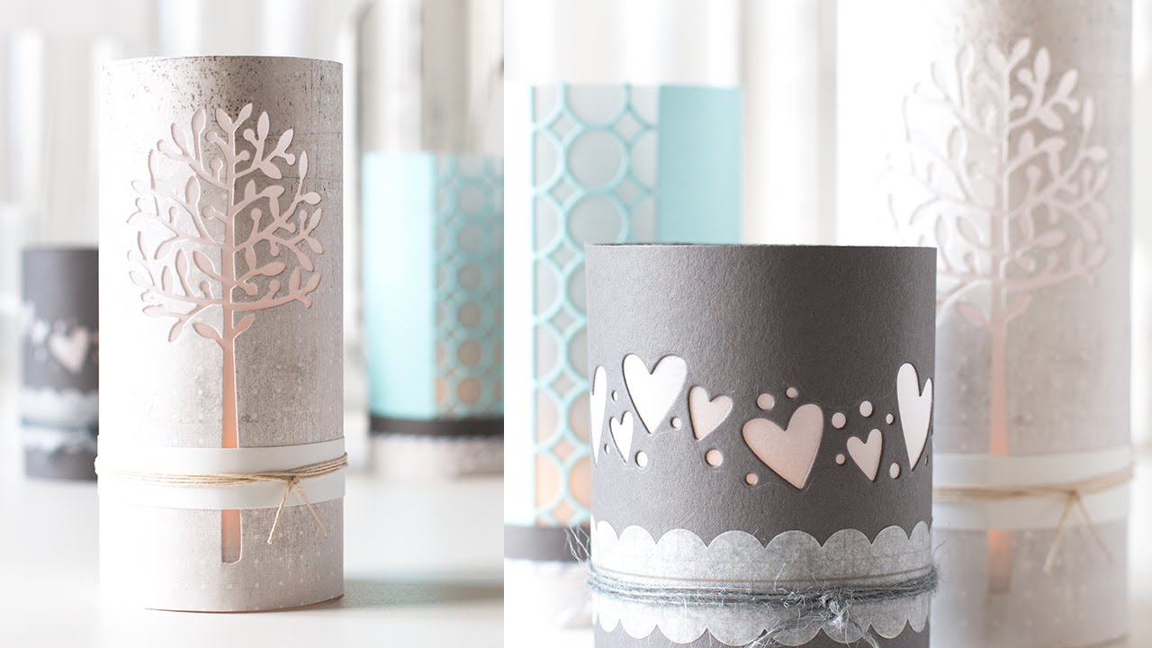 DIY Luminaries Using Card Stock and Craft Dies - YouTube