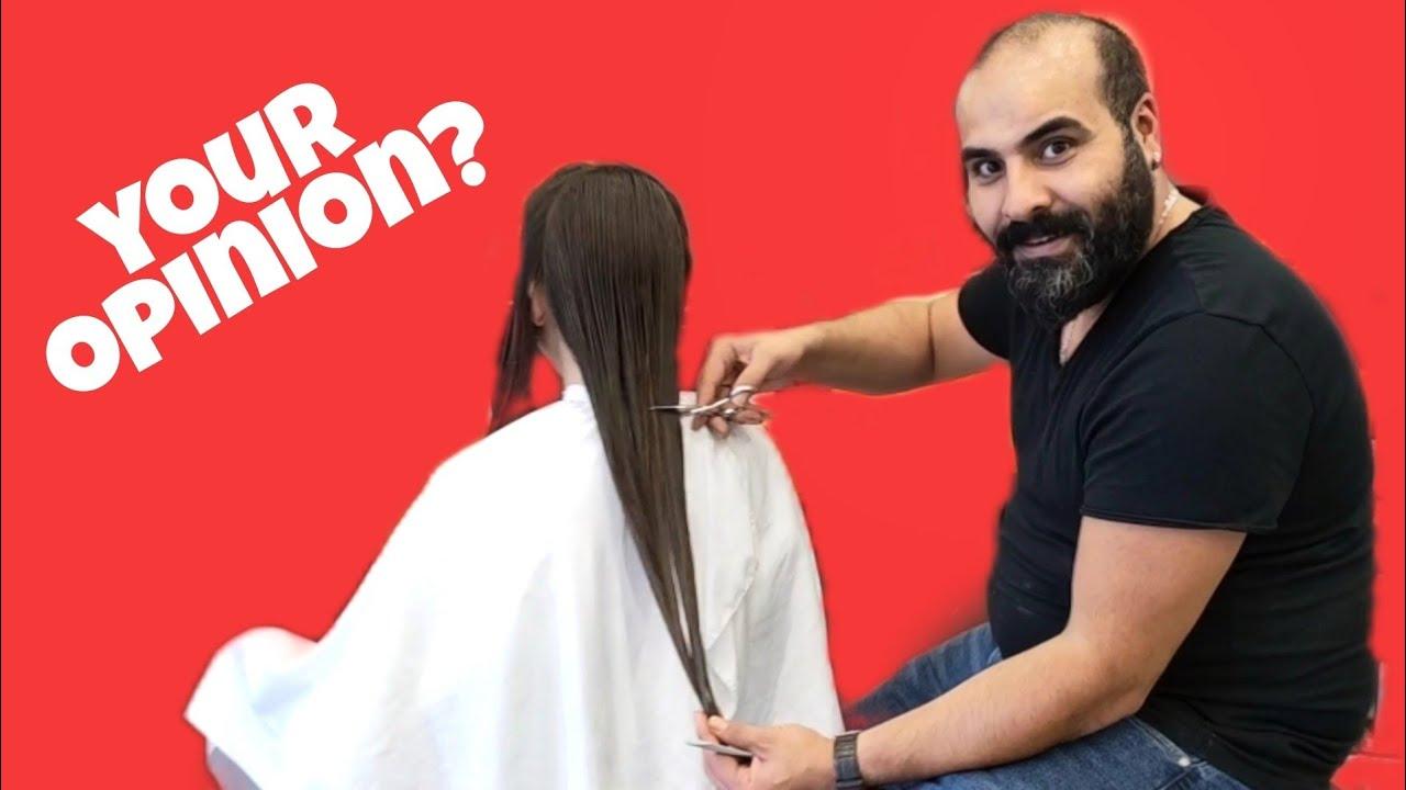 WILL IT CUT IT? ( Haircut For Women - Long to Short Haircut - ASMR Haircut )