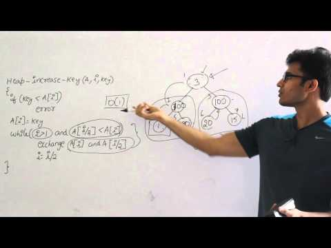 Algorithms lecture 14-- Extract max, increase key and insert key into heap