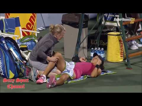 🎾 Ana Ivanovic y injury timeout - Sexy Tennis 2018 🎾