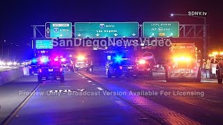 ONE DEAD IN 3-VEHICLE CRASH ON INTERSTATE 805, SORRENTO VALLEY