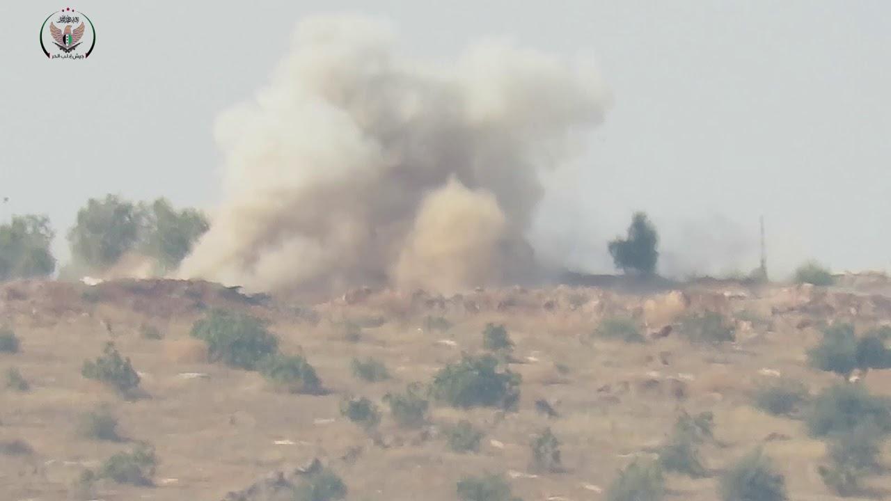 ردا على استهداف نقاط الرباط سرية ال م د تدمر رشاش 14.5 على جبهة بيانون في ريف حلب الشمالي
