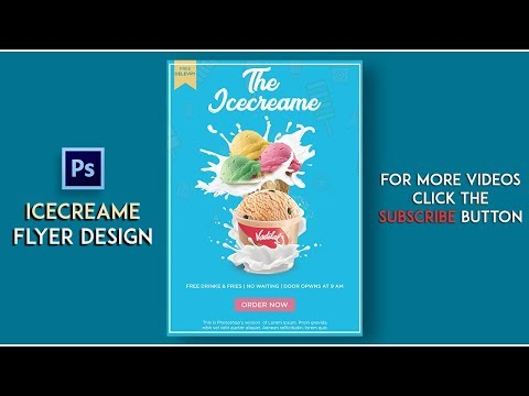 FLYER DESIGN in PHOTOSHOP CS6/CC || How to Create FLYER in Photoshop || (Ice cream Flyer)