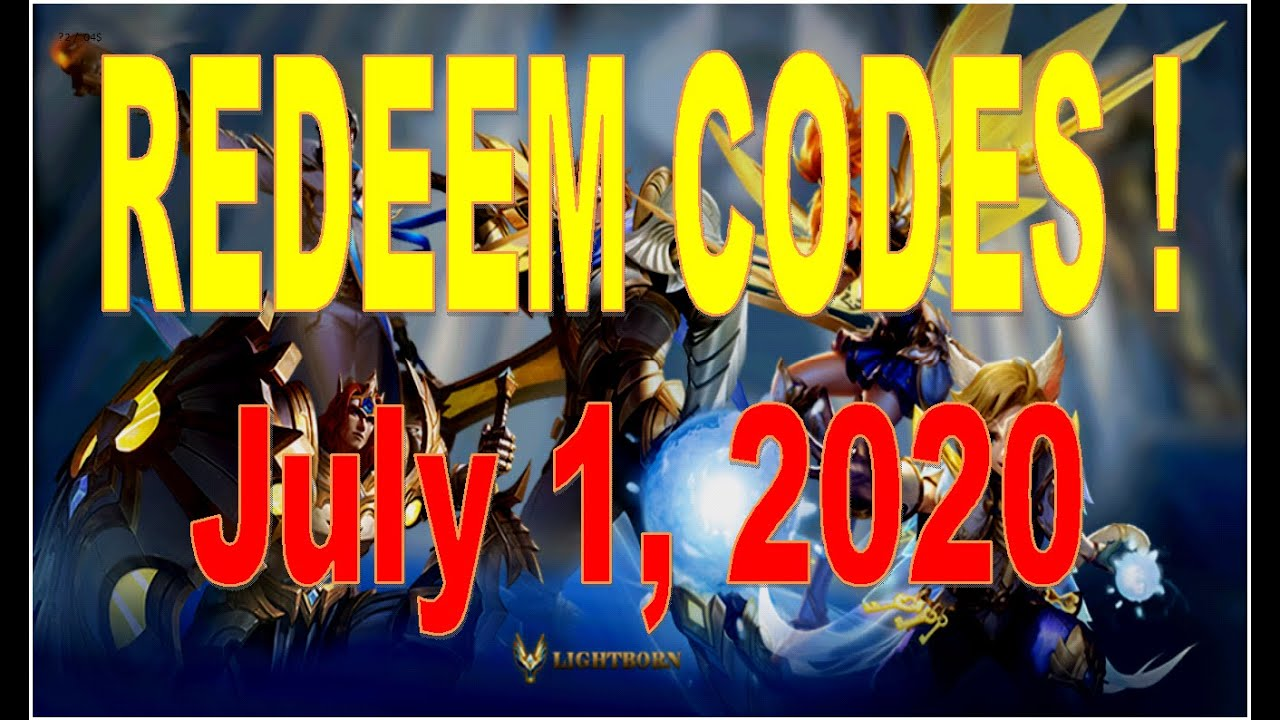 Mobile Legends Redeem Codes - July 1, 2020 - YouTube