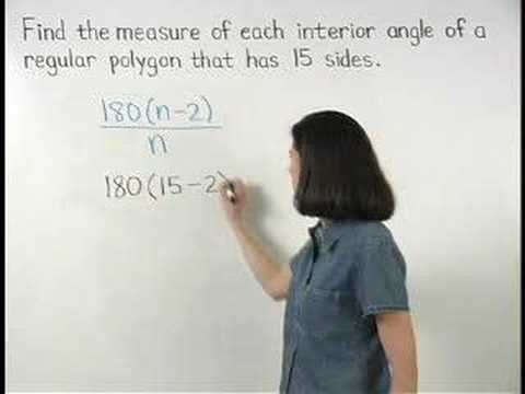 Each Interior Angle of a Regular Polygon MathHelpcom YouTube