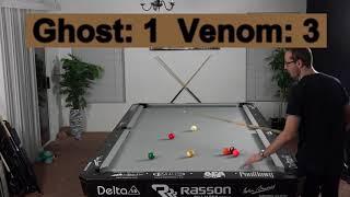 Venom Trickshots VS The Ghost --9 Ball Race to 7