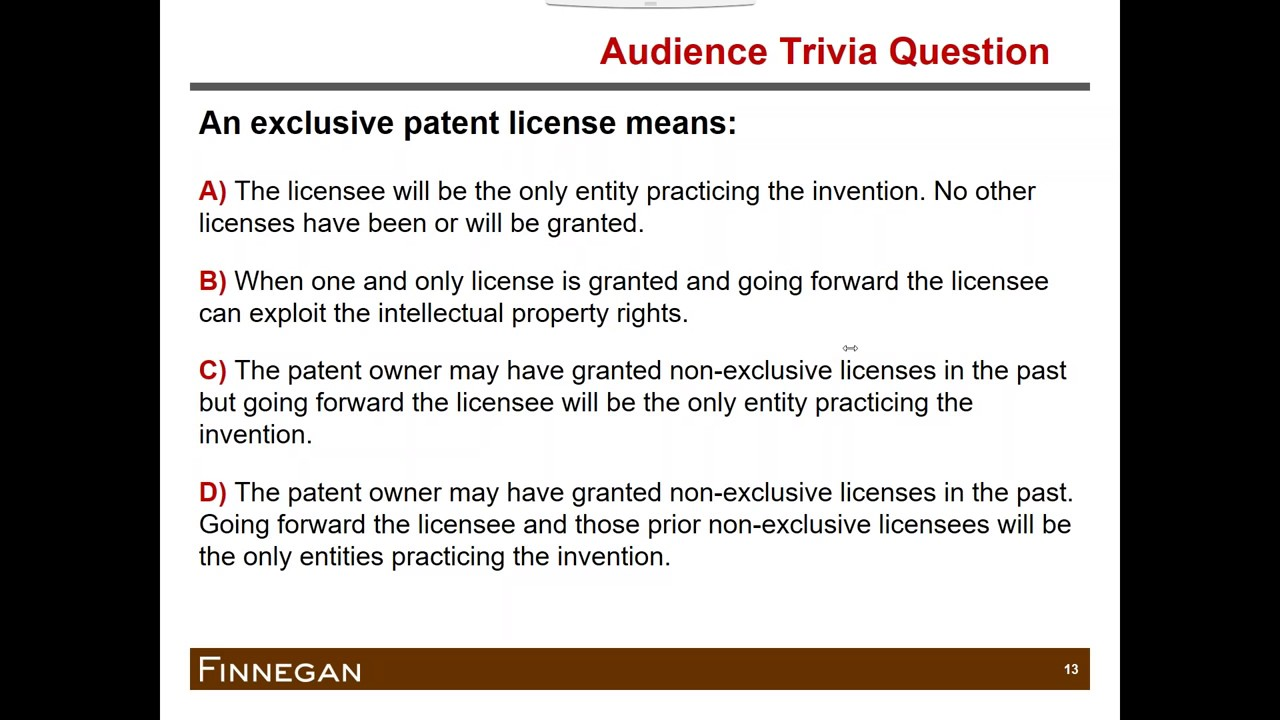 Basics Of Licensing Considerations For License Agreements Youtube