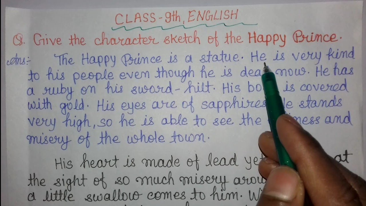 Class-IX English/Character Sketch of The Happy Prince