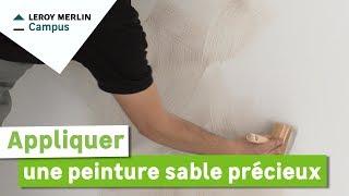 Comment Appliquer Une Peinture Sable Precieux Leroy Merlin Youtube