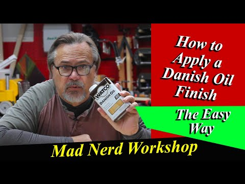 How to apply Danish Oil to any wood!