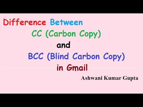 Difference Between TO, CC and BCC in Email.