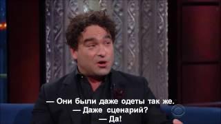 Джонни Галэки о белорусском сериале «Теоретики» (субтитры Кинаоборот)