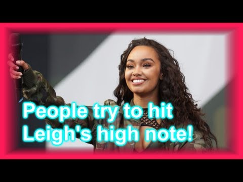 PEOPLE TRY TO HIT LEIGH'S HIGH NOTE IN ''TOUCH ACOUSTIC''