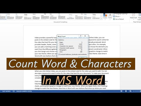 How To Count Words And Characters In Microsoft Word| How To Count Words In Word | Words Count