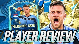 THIS CARD IS BROKEN! 💀 94 TOTSSF MILINKOVIC-SAVIC PLAYER REVIEW! - FIFA 20 Ultimate Team