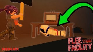ROBLOX - FLEE THE FACILITY - HIDING UNDER TABLES TO ESCAPE