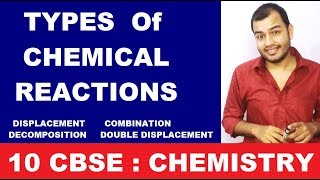 Chemical Reactions and Equations 10 CBSE || Types Of Chemical Reactions ||