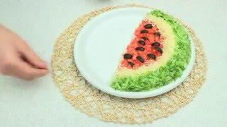 Арбузная долька салата