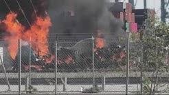 Big rig explodes at Port of Los Angeles in San Pedro