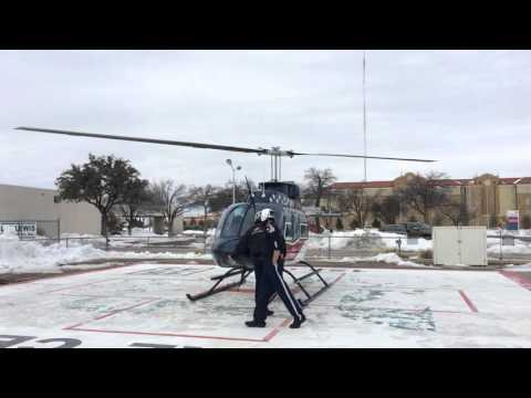 Air Evac Lifeteam 34 Takeoff From Covenant Medical Center, Lubbock TX