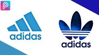 كيفية إنشاء شعار العلامة التجارية مثل أديداس | PicsArt شعار التعليمي | Braintech دينار بحريني برو