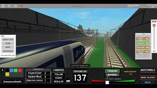 Roblox Terminal Railways First Day Class 374 Velaro Eurostar e320 Northwell to Alyard Eest