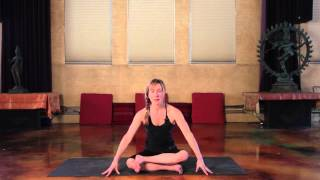 How to do Agnistambhasana (Fire Log pose) with Tiffany Wood