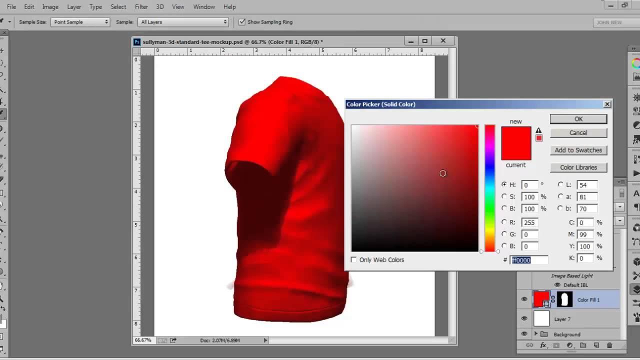 Free 3D tshirt Mockup
