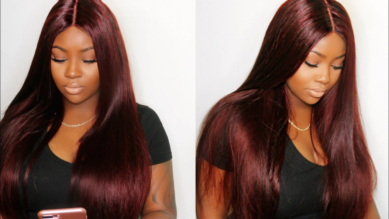 Color Hair Burgundy Without Bleach Tutorial Ali Pearl Youtube