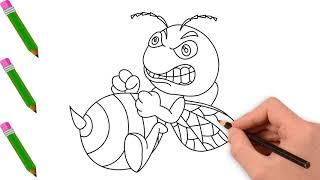 Vẽ Con Ong Vàng - Tranh Tô Màu Cho Bé - Chủ Đề Các Con Vật