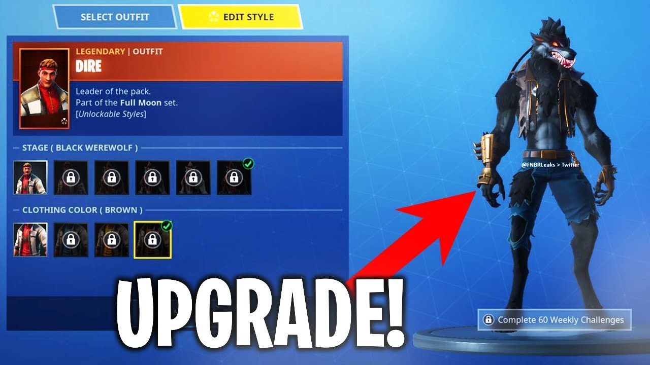 How to UPGRADE quot DIRE SKIN quot MAX
