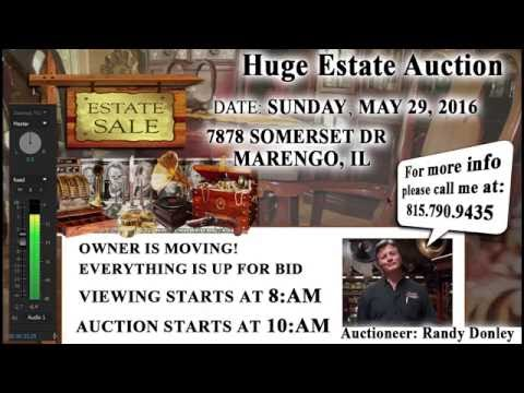 Auctioneers Randy Donley & Bob Goad talk about the HUGE Estate Auction!