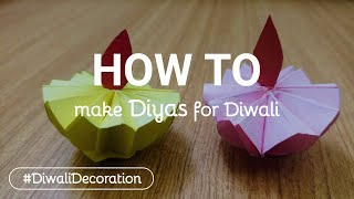Diya making with paper on Diwali | Paper Diya