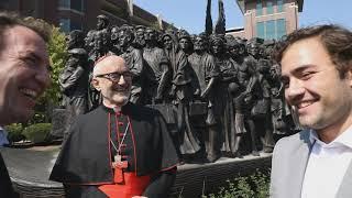 Angels Unawares Sculpture at Loyola University