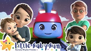 Wheels On The Train   Little Baby Bum   Trains for Children   Train Song   Moonbug for Kids