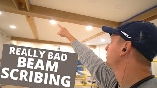 WONKY CEILING Beam Scrİbing MAJIC - How to Get Perfect Fitting Scribes